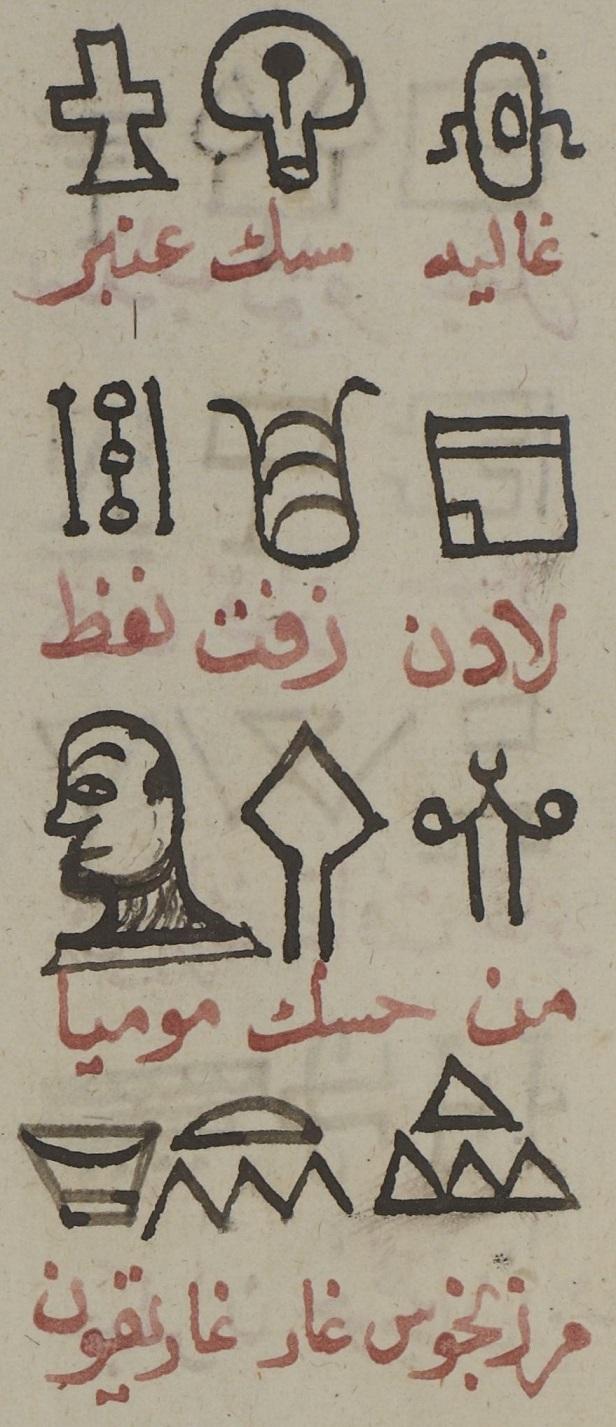 арабо-древнеегипетский словарь лекарств к Зотову